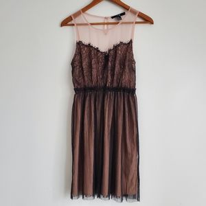 Forever 21 Lace Faux Strapless Mini Dress